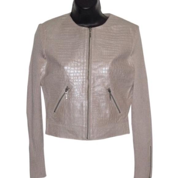 phosphorus Jackets & Blazers - Phosphorus sweater/leather Zip Jacket